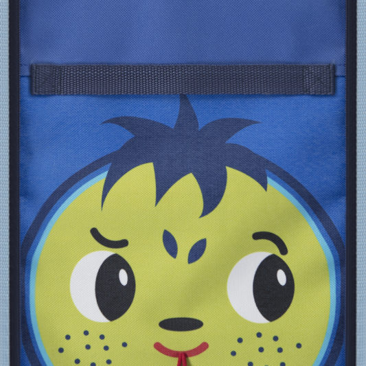 extendable kids lunch bag_face view_easy to clean fabric