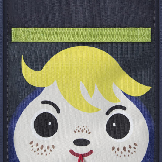 insulated lunch bag for kids_face view on the fabric