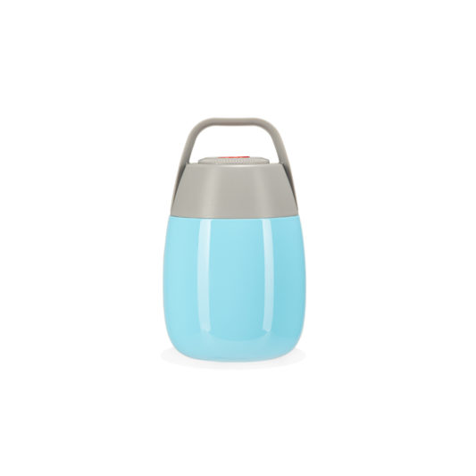 Blue food flask for kids HELLO BILL! front view