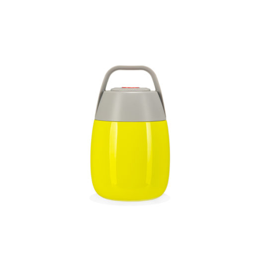 Lime food flask for kids HELLO WENDY! front view