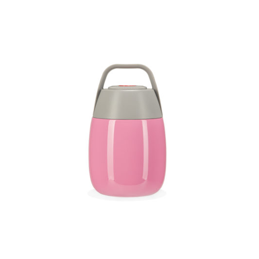 Pink food flask for kids HELLO PENELOPE! front view